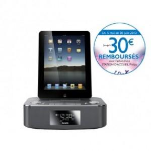 Station d'accueil iPod/iPhone/iPad Philips DC 291 - Avec ODR (-20€) modèle d'expo !