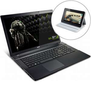 """Ordinateur portable 17.3"""" Acer Aspire Gamer ( i7-4702MQ,  GTX 760M, 16 Go, HDD 1To + SSD 256Go, FHD) + Tablette Acer 7"""" (Iconia B1-710) + Housse (avec ODR 150€)"""
