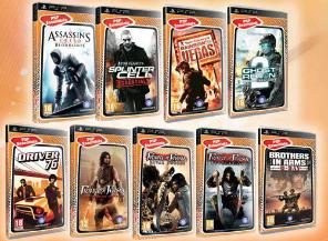 2 jeux PSP parmi une sélection