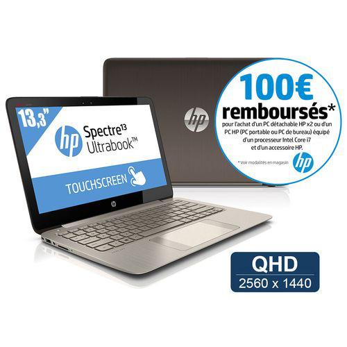 """Ultra portable HP 13.3"""" 2560x1440 tactile - i7 - SSD 256Go - 8Go (avec ODR 100€)"""