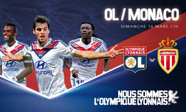 Match OL/AS Monaco à moitié prix jusqu'à Dimanche soir