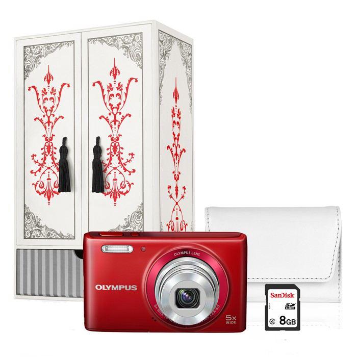 Pack appareil photo Olympus VG180 + Boîte à bijoux + Housse + SD 8Go
