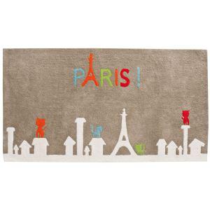 """Tapis Candide """"Paris"""" 100% coton - 120 x 65 cm"""