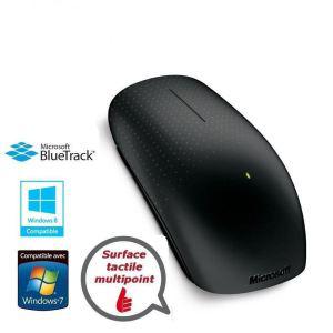 Souris tactile sans fil Microsoft Touch Mouse noire (Avec ODR de 10€)