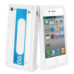 Housse silicone Muvit Rétro pour iPhone 4/4S