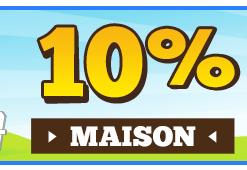 10% de réduction dés 100€ d'achat dans la catégorie Maison-Jardin-Brico