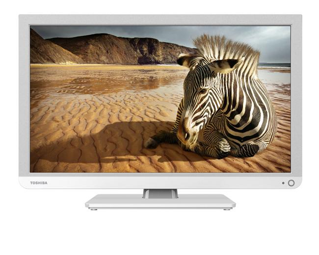 """Télévision 24"""" Toshiba 24W1334G - Blanc"""