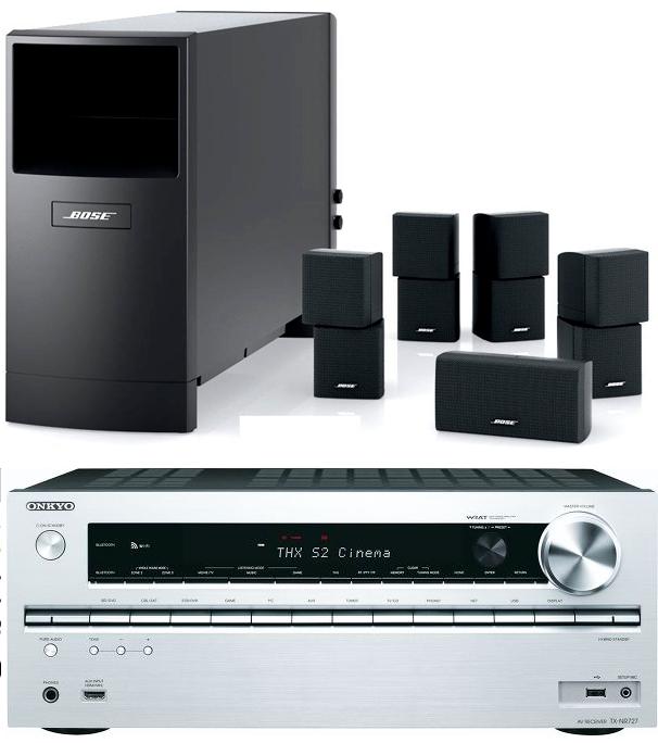 Pack home cinéma ampli Onkyo TX-NR727 + Pack 5.1 Bose Acoustimass 10 S4 (avec ODR de 100€)
