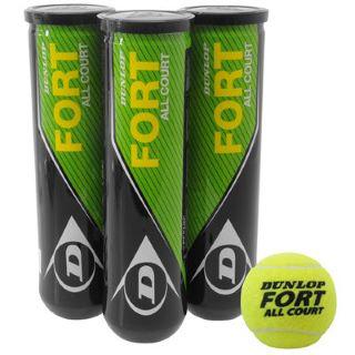 3x4 Balles de Tennis Dunlop Fort All Court