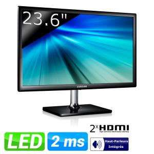 "Samsung Ecran LED 23,6"" Full HD S24C550VL (Avec ODR 20€)"