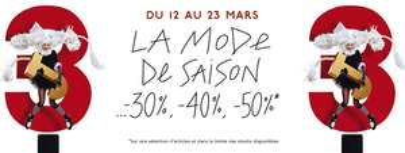 3J Galeries Lafayette jusqu`à -50% même sur la beauté et parfum + 10% supplémentaires