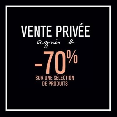Vente privée Agnès b : -70% sur une sélection de produits.