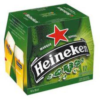 Pack de Bière Heineken 12*25cl (Avec 50% sur carte de fidélité)