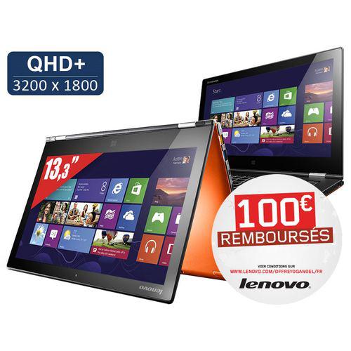 "Ultrabook tactile 13.3"" Lenovo Ideapad Yoga 2 Pro - Core i5, SSD 128 Go, RAM 4 Go (Avec ODR 100€)"