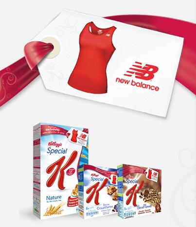 Débardeur New balance offert pour l'achat de 2 produits Spécial K + 2€ de frais de gestion