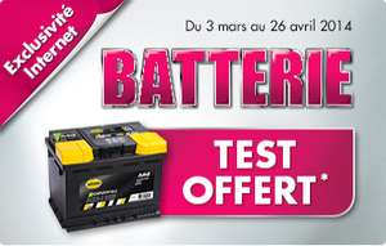 Test de la batterie de voiture offert