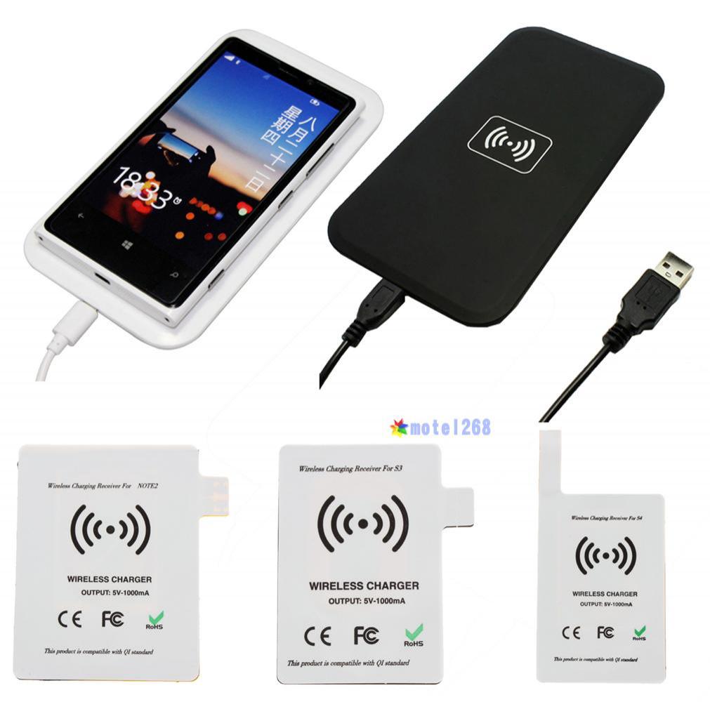 Chargeur sans fil Qi pour Samsung Galaxy S3/S4 charge Pad + récepteur -