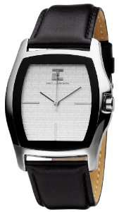 Montre Homme Ted Lapidus - Quartz Analogique - Cadran Blanc - Bracelet Cuir Noir