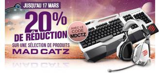 -20% sur une sélection de produits MADCATZ