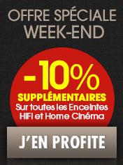 10% de remise supplémentaires  sur les enceintes HiFi et Home Cinéma