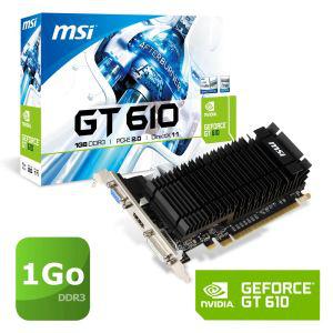 Carte graphique Nvidia GeForce MSI GT610 1Go DDR3 LP