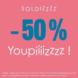 -50% sur toutes les collections (homme/femme)