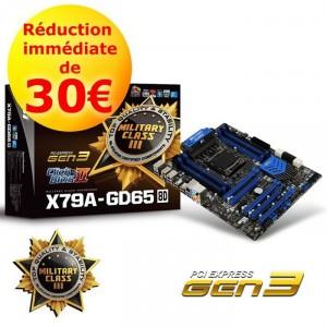 Carte mère MSI X79A-GD65 (8D) - Chipset Intel X79 - Socket LGA2011