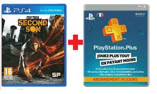 Infamous Second Son sur PS4 + 3 mois d'abonnement au Playstation Plus
