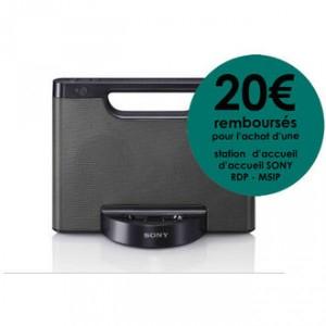Dock compact iPod/iPhone Sony RDPM5IP - Avec ODR (-20€)