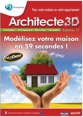 Logiciel Architecte 3D express 17 sur PC