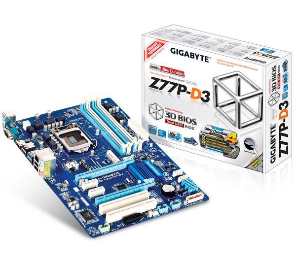 Carte mère GigaByte GA-Z77P-D3 - chipset Z77 - ATX