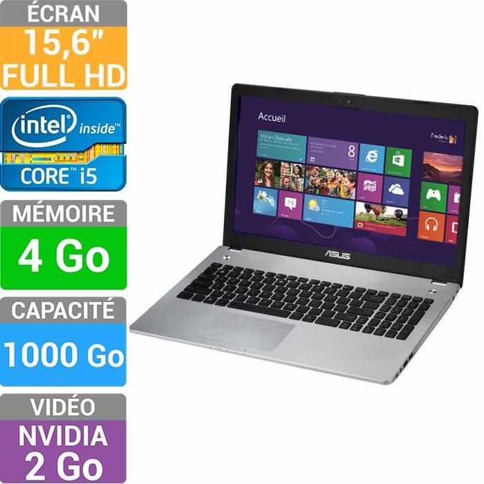 "PC Portable 15.6"" Asus n56vb-s4186 (Full HD, i5 3230, 4 Go, 1 To HDD, GeForce GT 740M 2 Go) + 25% en 2 bons d'achat"