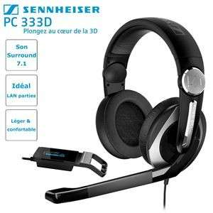 Micro casque Gaming PC Dolby Surround 7.1 anti-bruit Sennheiser PC 333D