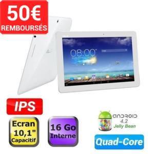 """Tablette 10"""" Asus MemoPad ME102A 16Go - Blanc + 2 bons d'achats de 27,5€ (avec ODR de 50€)"""