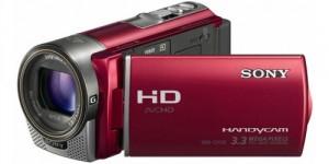 Camescope Full HD SONY CX130E avec mémoire flash zoom 30x rouge - reconditionné