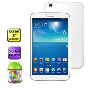 """Samsung Galaxy Tab 3 8"""" Blanche 16Go (+ 25% remboursé en 2 bons d'achats)"""