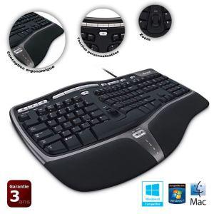 Clavier filaire Microsoft Natural Ergonomic Keyboard 4000 (Avec ODR 10€)