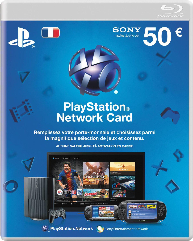 Sélection d'accessoires jeux-vidéo en vente flash - Ex : Carte Playstation Network PS3 d'une valeur de 50€