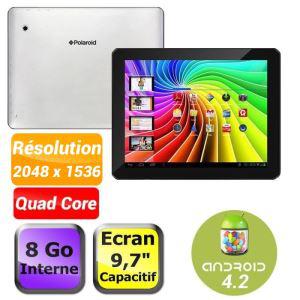 """Tablette Polaroid 9,7"""" - 8Go - 2048 x 1536 pixels retina - 2Go de ram - A9 Quad-core 1,6Ghz (+25% en bon d'achat)"""