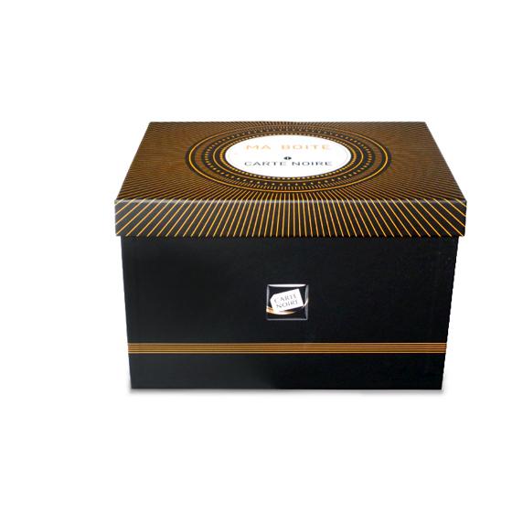 Boîte en carton verni Carte noire (pour 40 étoiles) avec frais de port gratuits