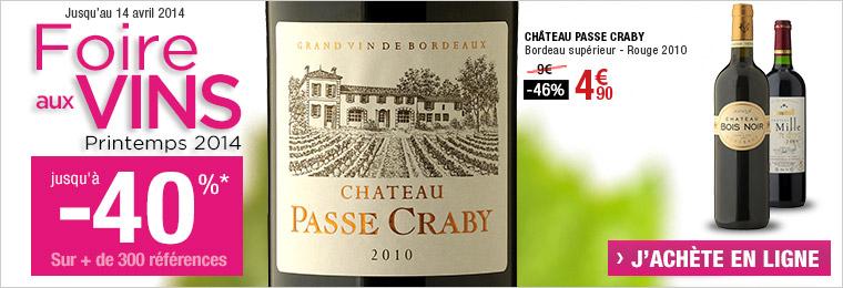Foire aux vins : jusqu'à -40% sur une sélection de vins