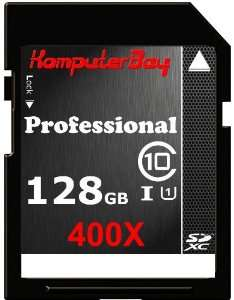 Carte mémoire SDXC Komputerbay 128 Go Class 10