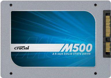 SSD Crucial M500 120 Go à 57.18€, 960 Go à 383.10 et 240 Go