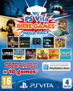 Pack carte mémoire Sony PS Vita 4 Go +10 jeux indépendants