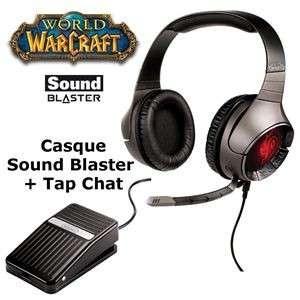 Creative SB Casque + Pédale World of Warcraft