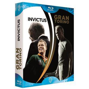 Coffret 2 Blu-ray Invictus et Gran Torino + DVD Coluche, l'histoire d'un mec