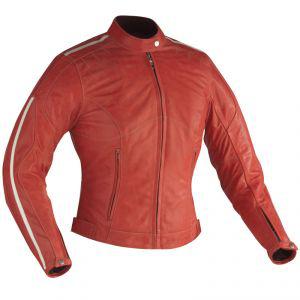 Blouson en cuir Ixon Saphir Rouge