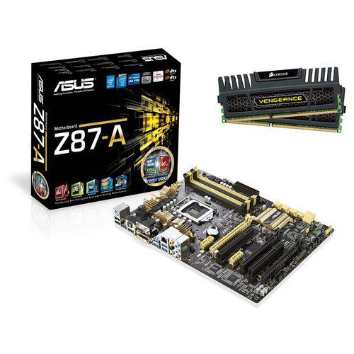 Carte mère Asus Z87-A C2 + Kit RAM 2 x 4 Go Corsair Vengeance PC3-12800