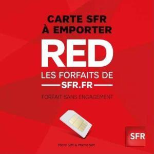 2 mois de forfaits RED de SFR offerts