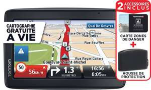 """GPS TomTom Start 25M - Cartographie à Vie, Ecran 5"""" + Housse de protection (50% sur carte)"""